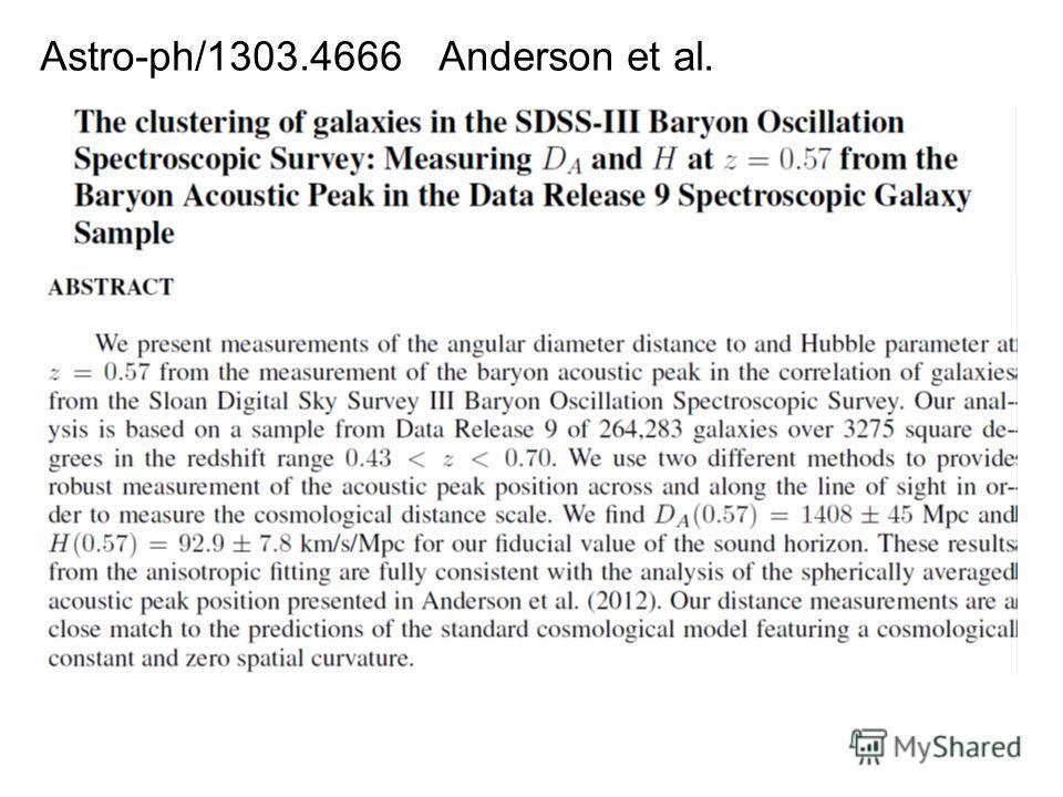 Astro-ph/1303.4666 Anderson et al.