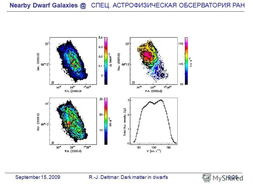 Nearby Dwarf Galaxies @ СПЕЦ. АСТРОФИЗИЧЕСКАЯ О Б СЕРВАТОРИЯ РАН September 15, 2009R.-J. Dettmar: Dark matter in dwarfs9/25
