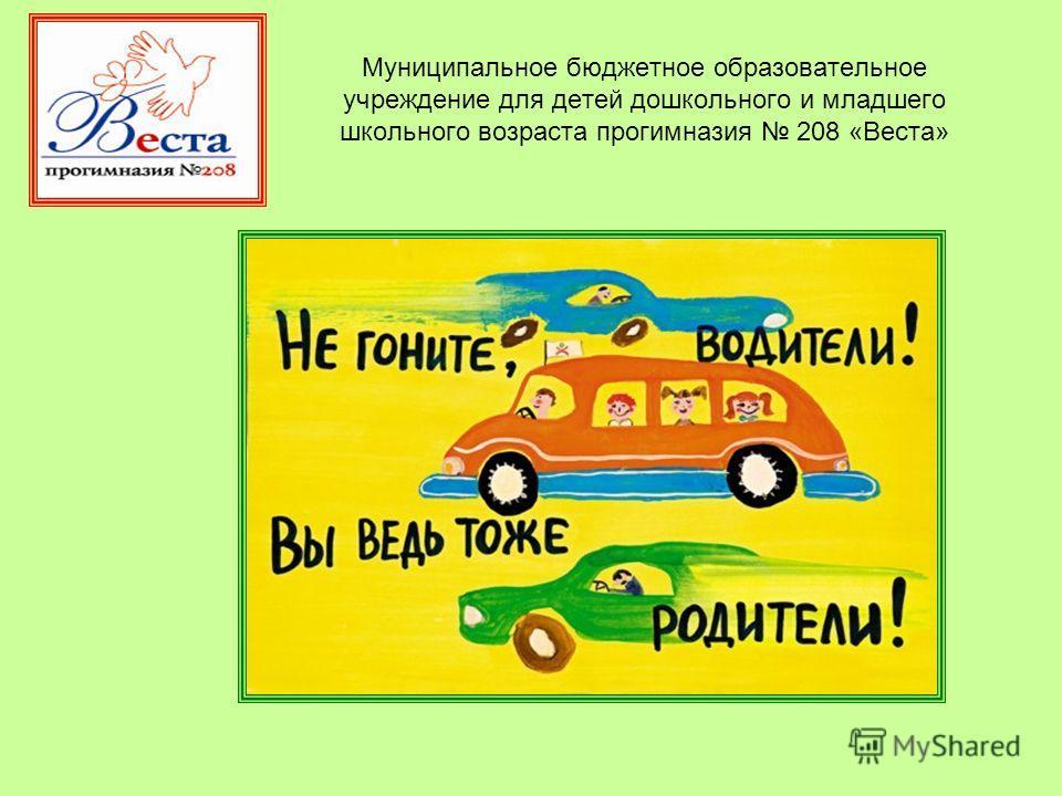 Муниципальное бюджетное образовательное учреждение для детей дошкольного и младшего школьного возраста прогимназия 208 «Веста»