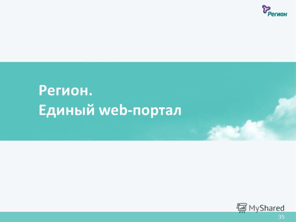 Регион. Единый web-портал 35