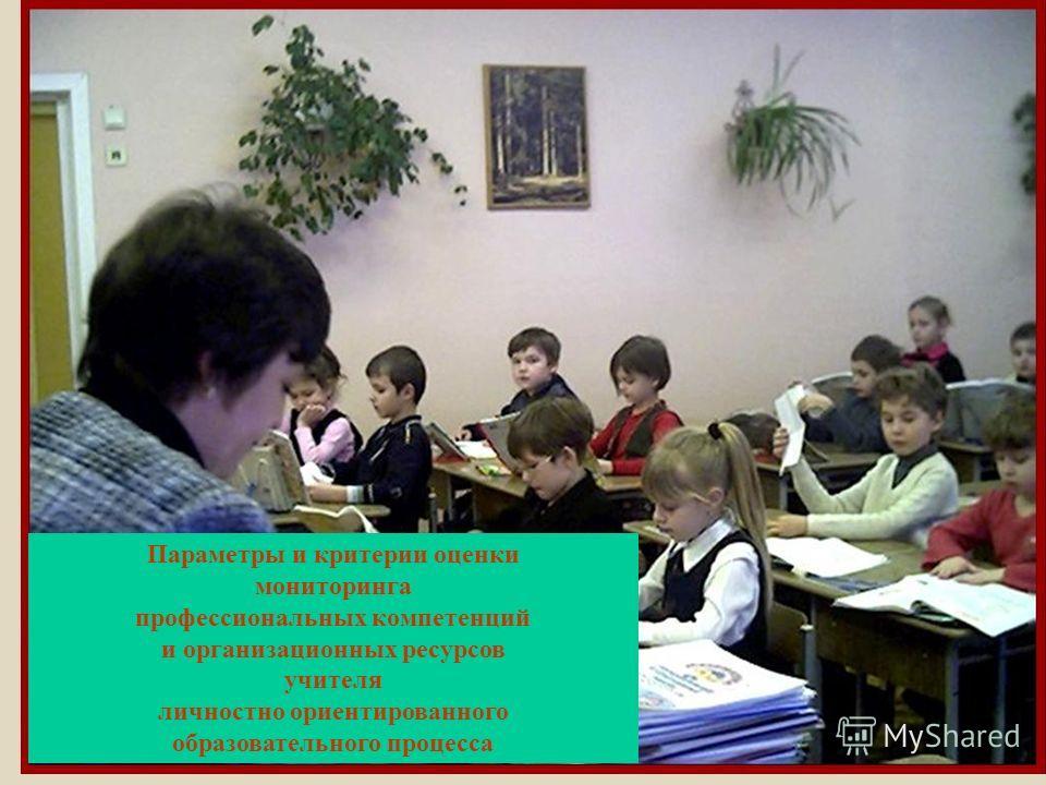 Параметры и критерии оценки мониторинга профессиональных компетенций и организационных ресурсов учителя личностно ориентированного образовательного процесса