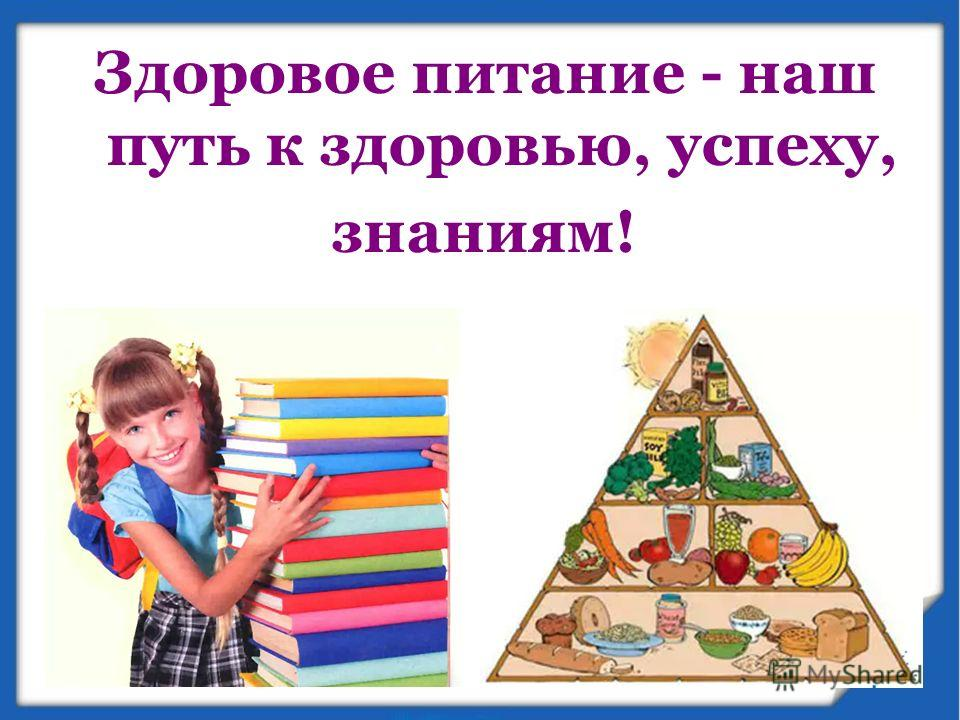 Здоровое питание - наш путь к здоровью, успеху, знаниям!