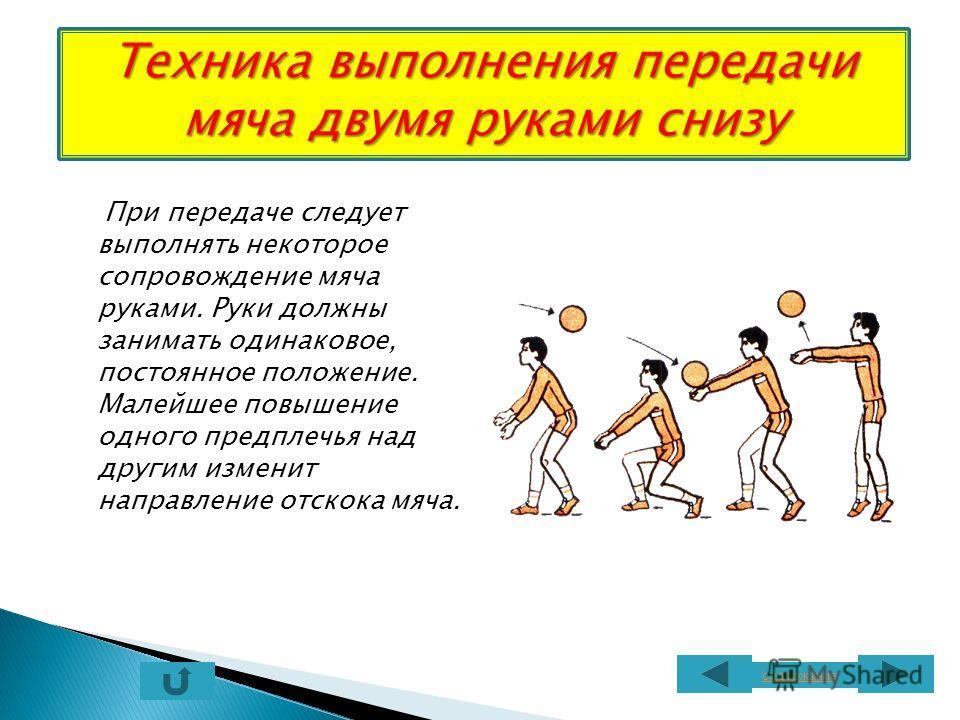Прыжок выполняется с места и с укороченного разбега (1-2 шага) толчком двух ног. Передача выполняется в высшей точка прыжка за счет активного разгибания рук. содержание Техника выполнения передачи мяча через сетку в прыжке