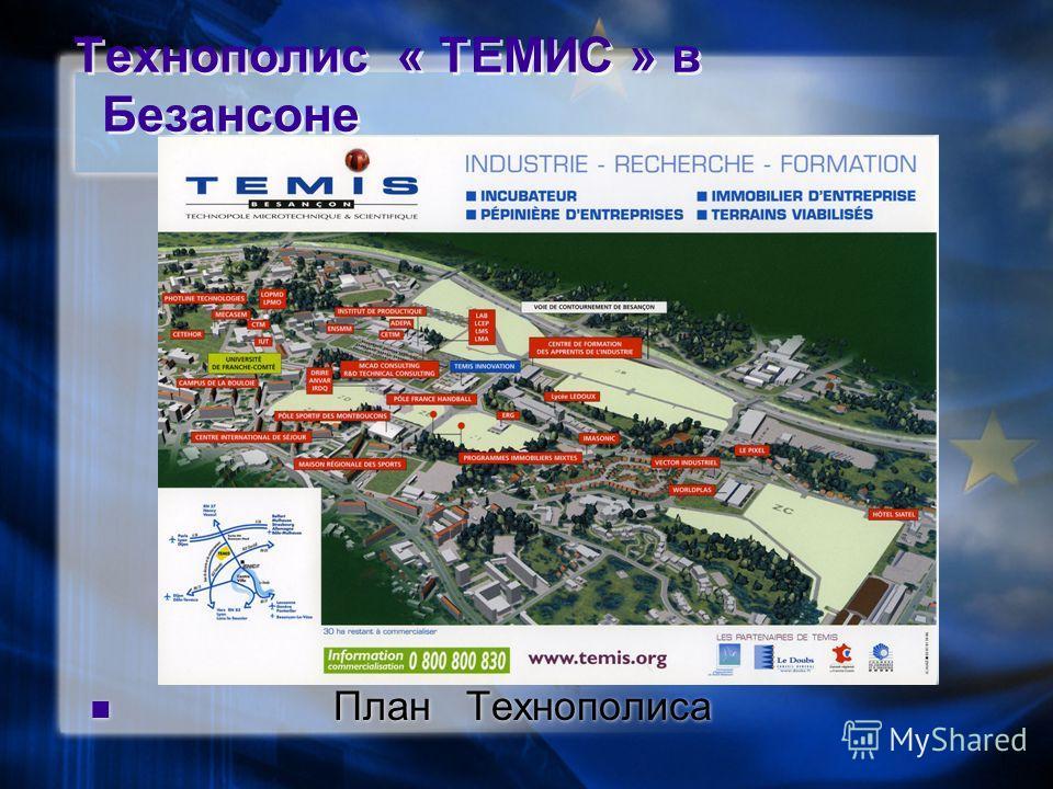 Технополис « ТЕМИС » в Безансоне План Технополиса