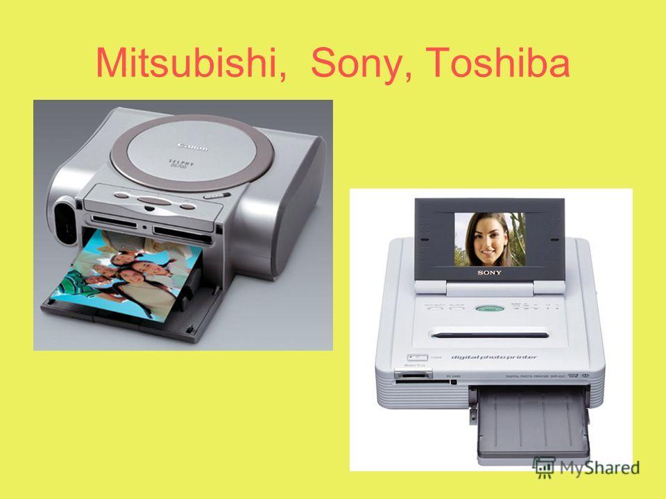 Mitsubishi, Sony, Toshiba