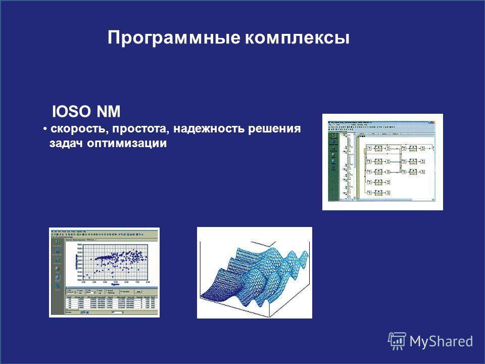 Программные комплексы IOSO NM скорость, простота, надежность решения задач оптимизации