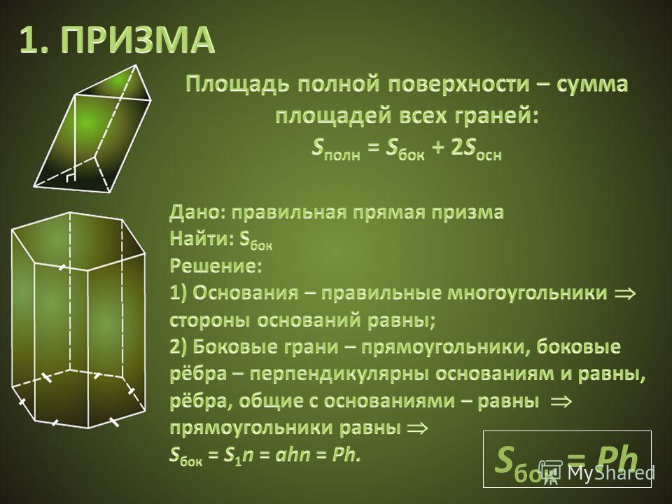 S бок = Ph