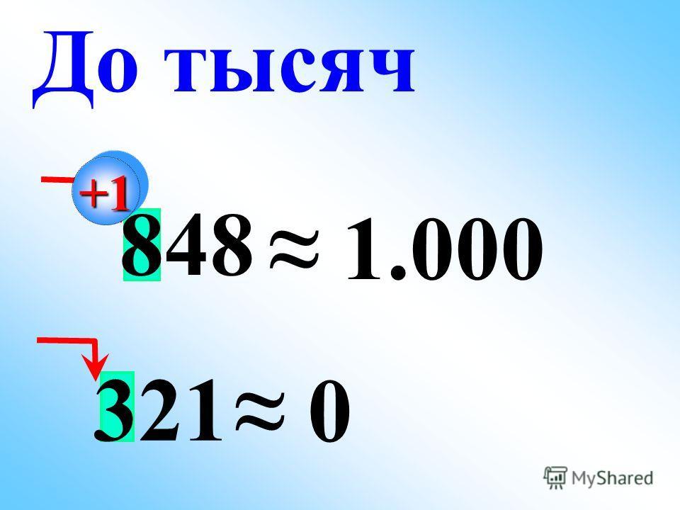 848 1.000 До тысяч+1+1 321 0
