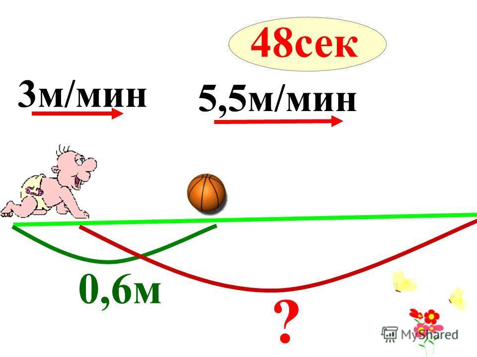 3м/мин 0,6м 5,5м/мин ? 48сек