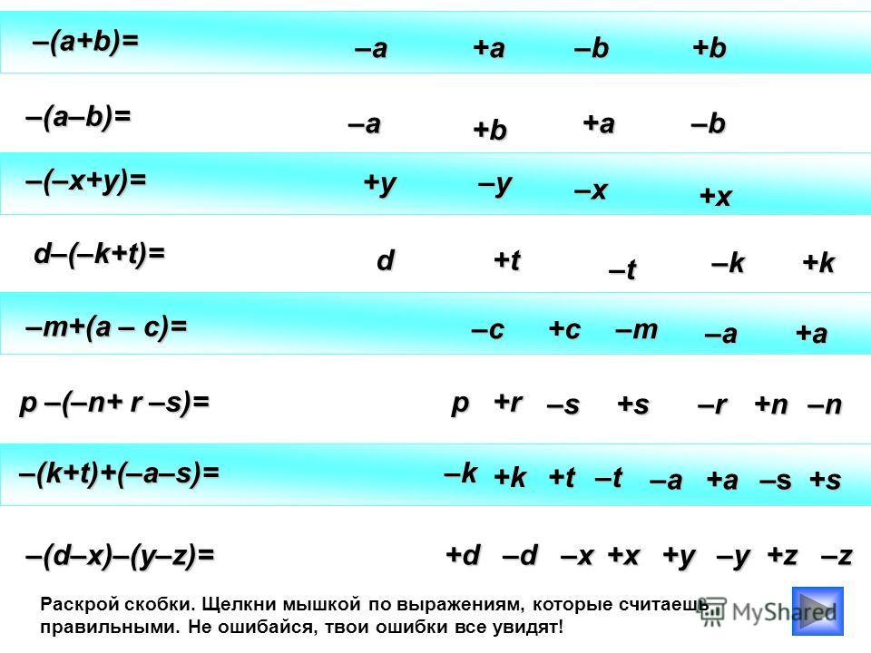 – ( – 2x + 4 + b ) –(–2x+4)+(b–2x) + – – = ( ) = b – 4