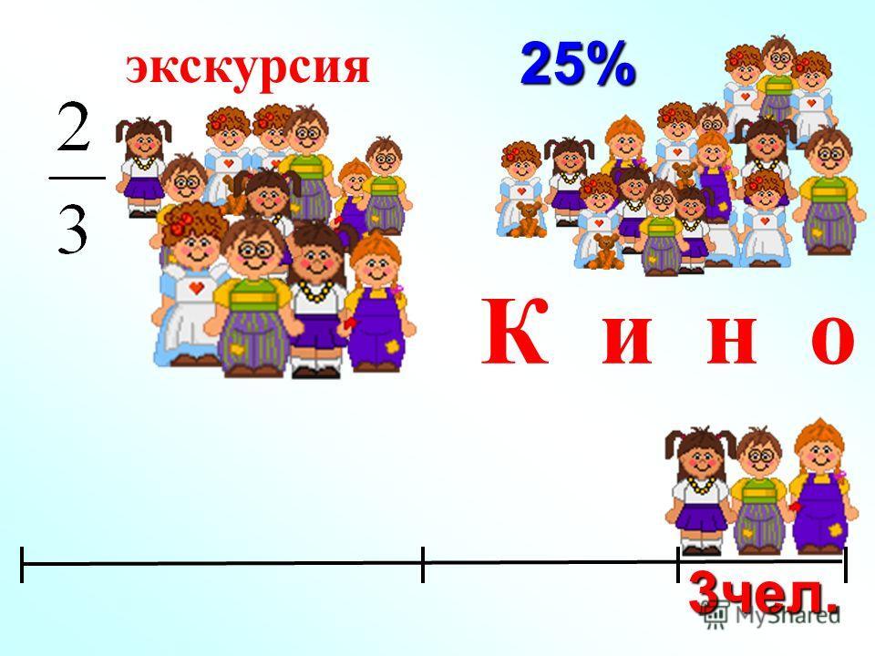 25% экскурсия К и н о 3чел.