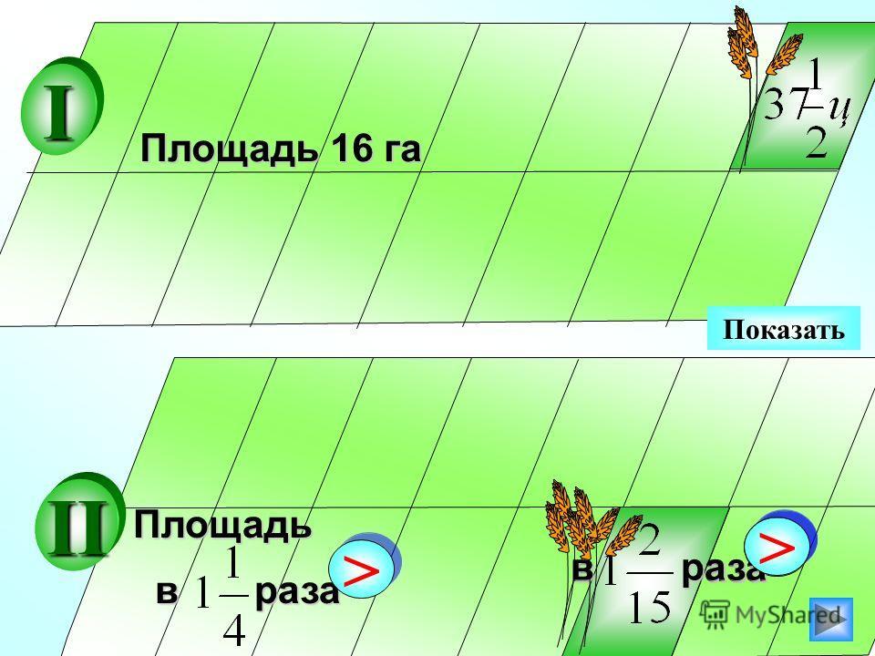 Показать Площадь 16 га в раза > >Площадь > > II I > >