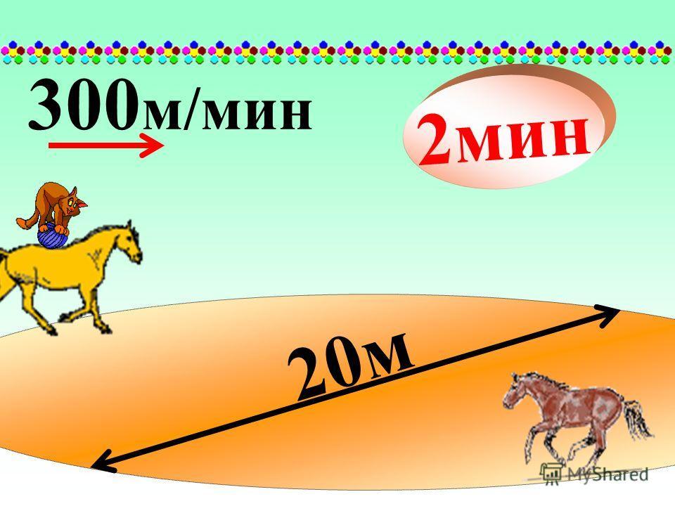 20м 300 м/мин 2мин