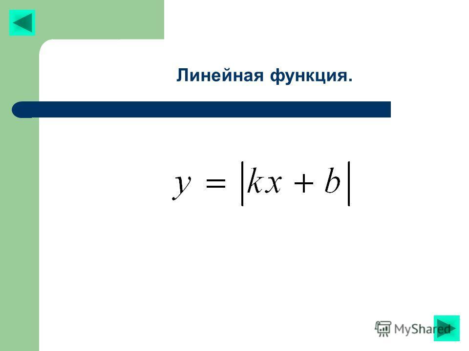 Линейная функция.