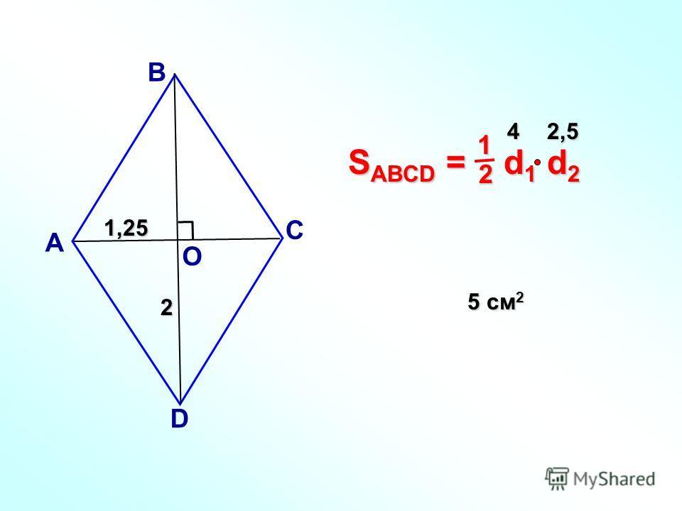 А В С D О 12 1,25 2 42,5 5 см 2