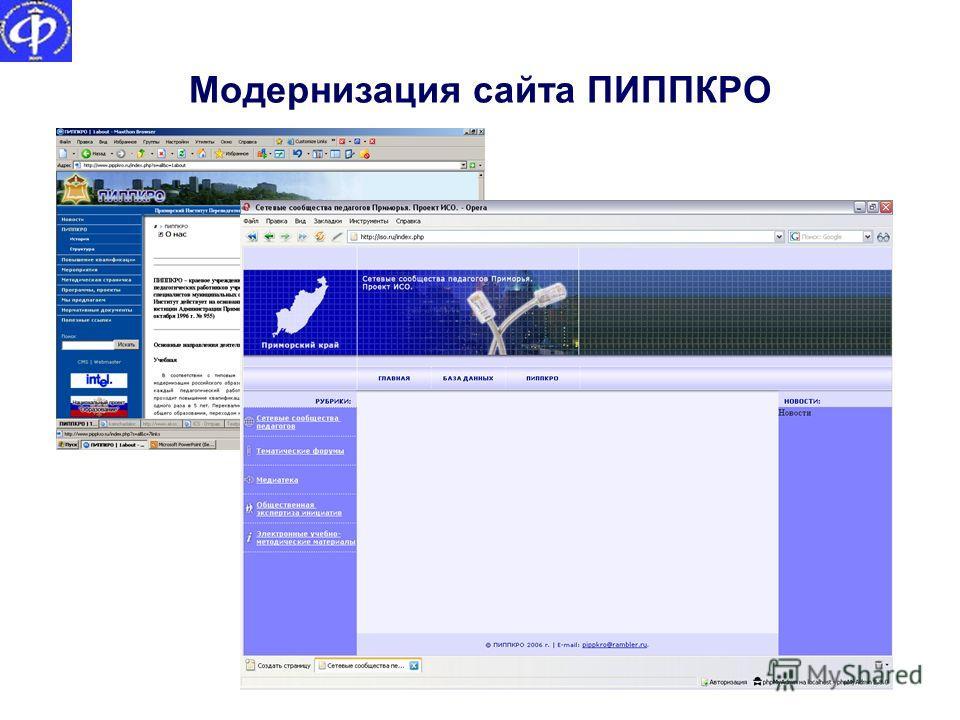 Модернизация сайта ПИППКРО