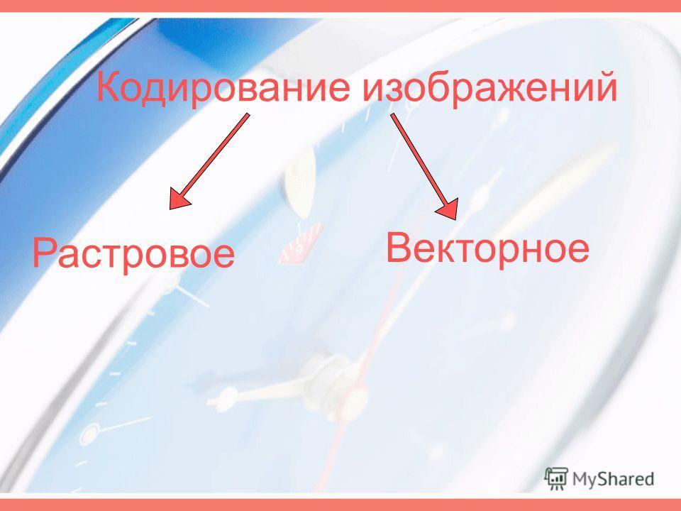 Кодирование изображений Растровое Векторное