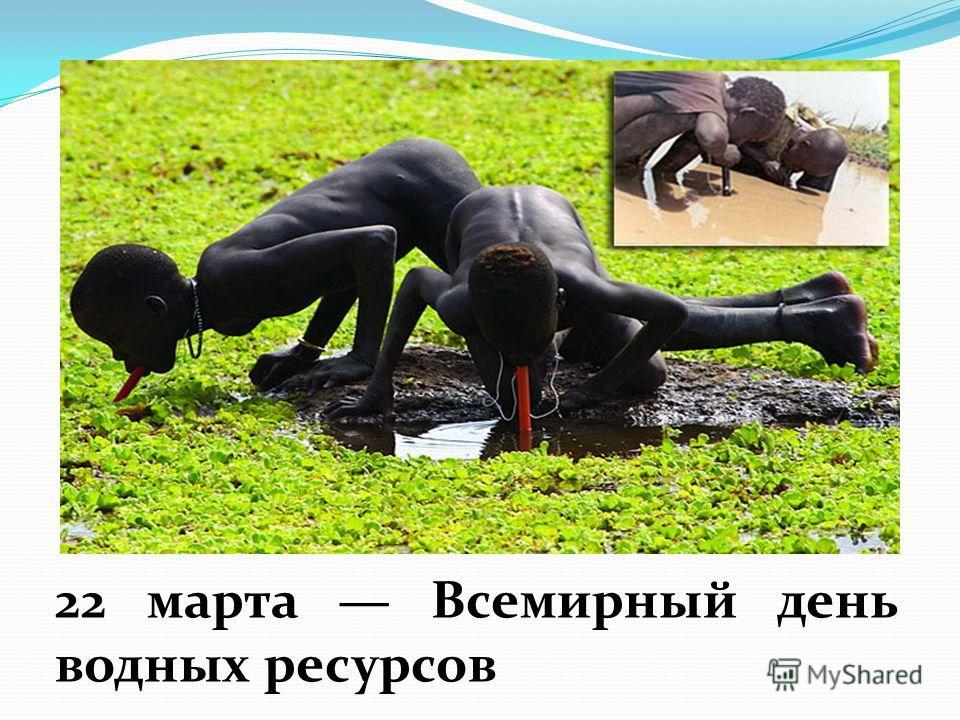 22 марта Всемирный день водных ресурсов