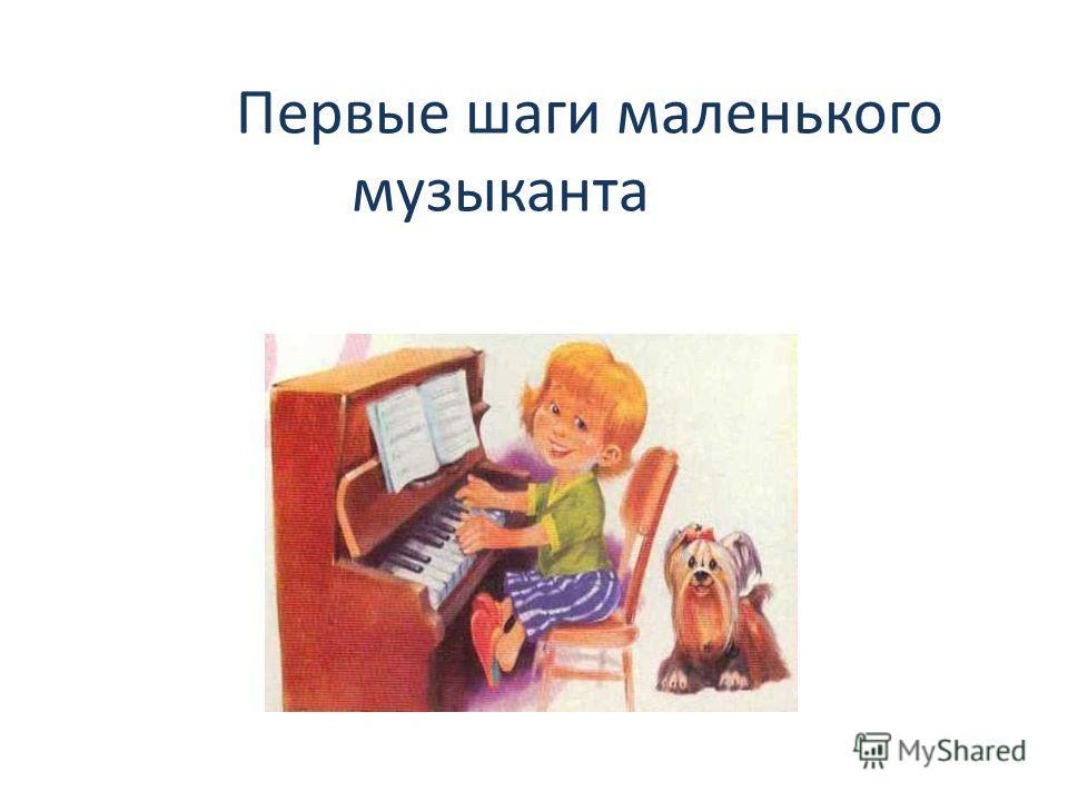 Первые шаги маленького музыканта