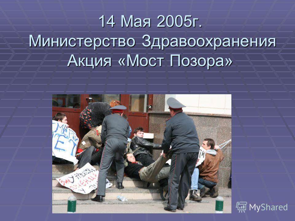 14 Мая 2005г. Министерство Здравоохранения Акция «Мост Позора»