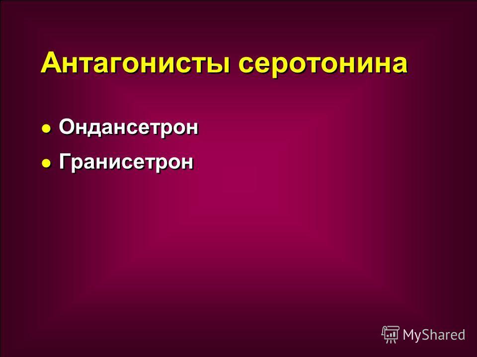 Антагонисты серотонина Ондансетрон Гранисетрон Ондансетрон Гранисетрон