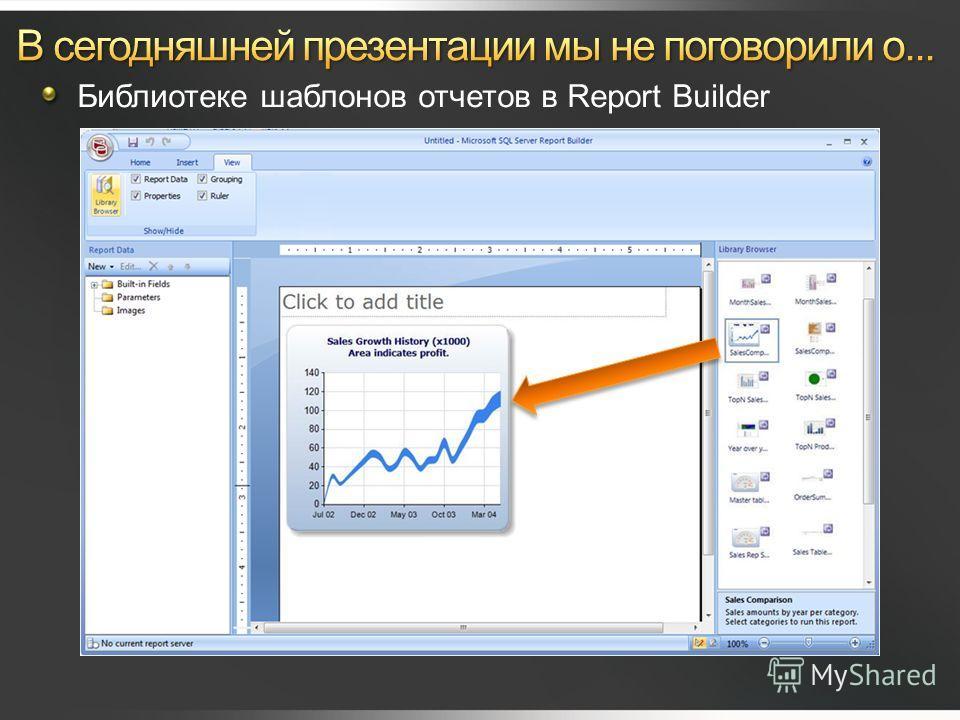 Библиотеке шаблонов отчетов в Report Builder
