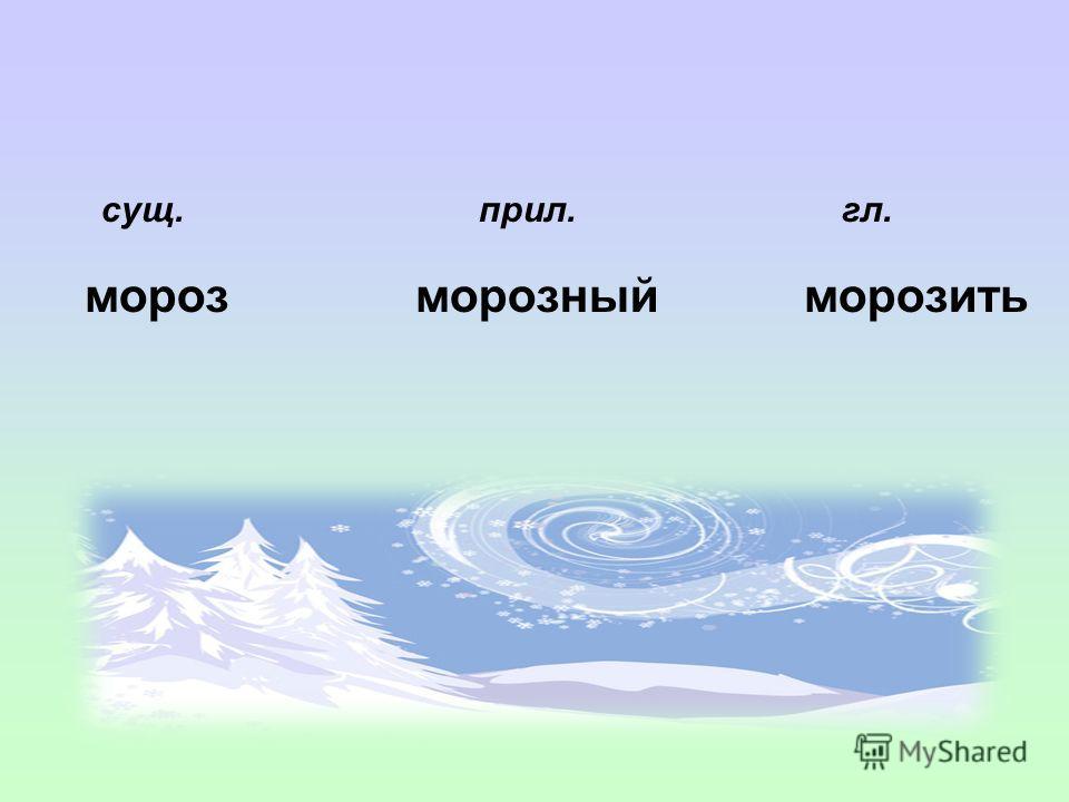 Мороз, морозить, морозный