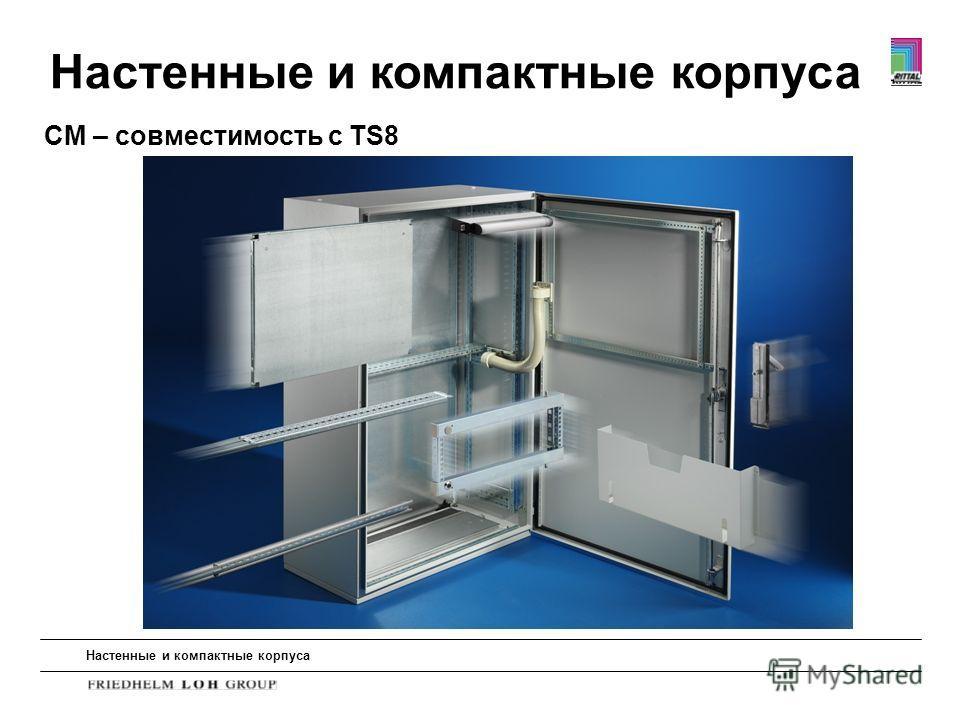 CM – совместимость с TS8 Настенные и компактные корпуса