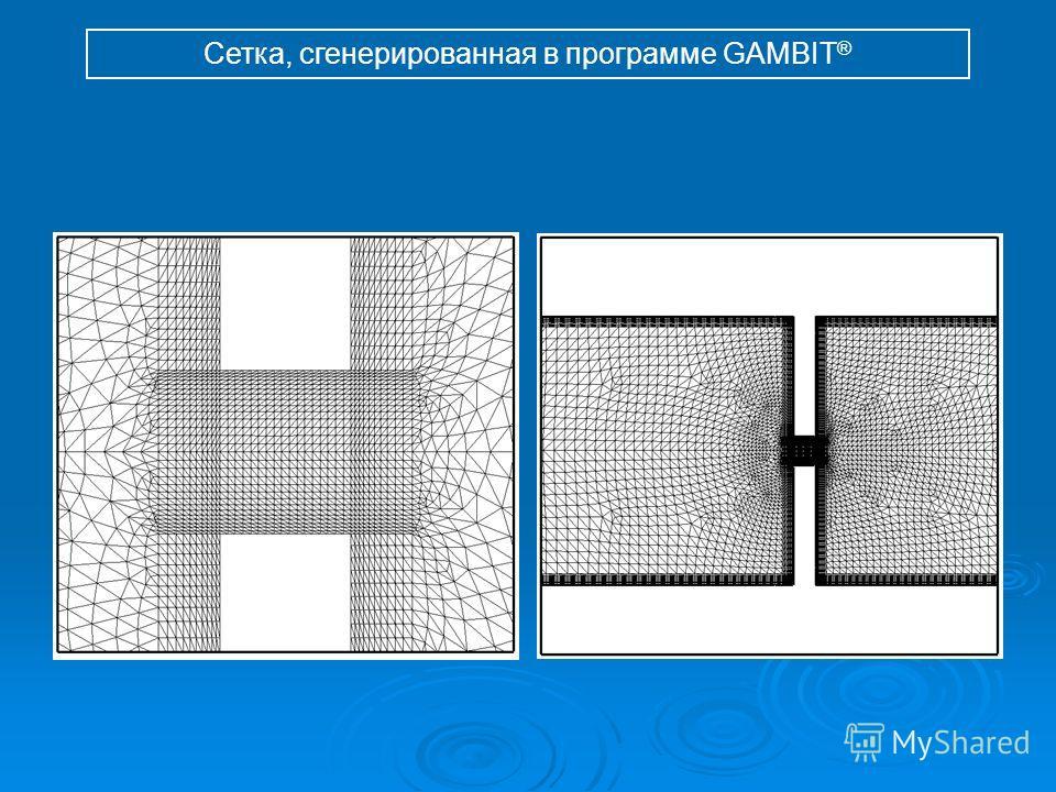Сетка, сгенерированная в программе GAMBIT ®