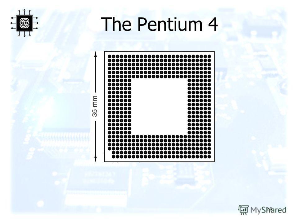 28 The Pentium 4