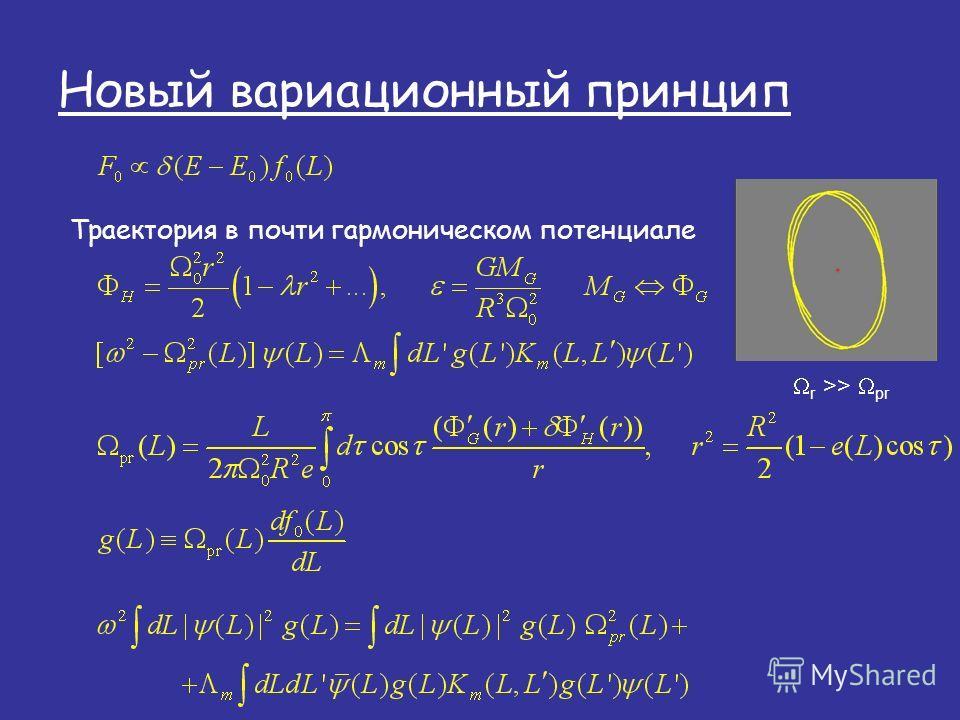Новый вариационный принцип Траектория в почти гармоническом потенциале r >> pr