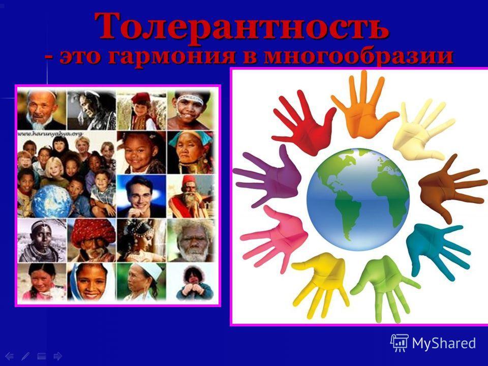 - это гармония в многообразии Толерантность