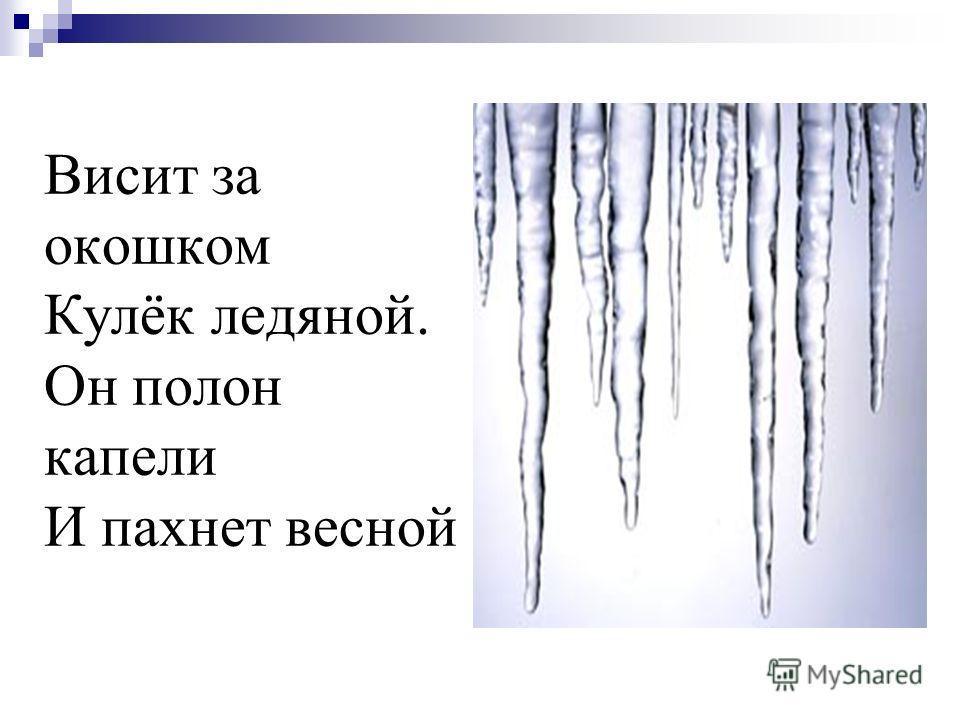 Висит за окошком Кулёк ледяной. Он полон капели И пахнет весной