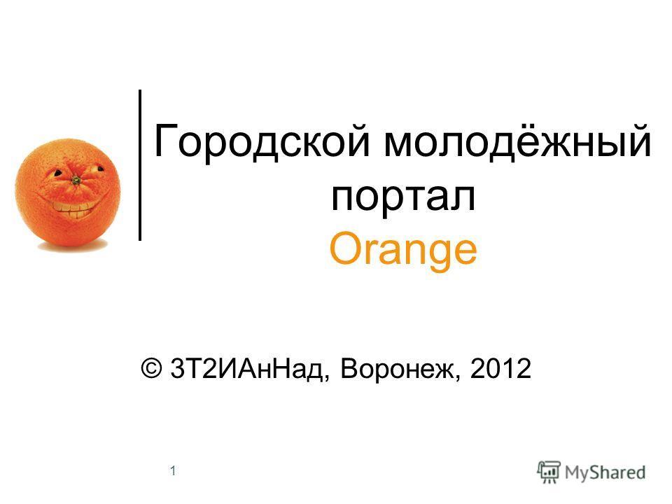 1 Городской молодёжный портал Orange © 3Т2ИАнНад, Воронеж, 2012