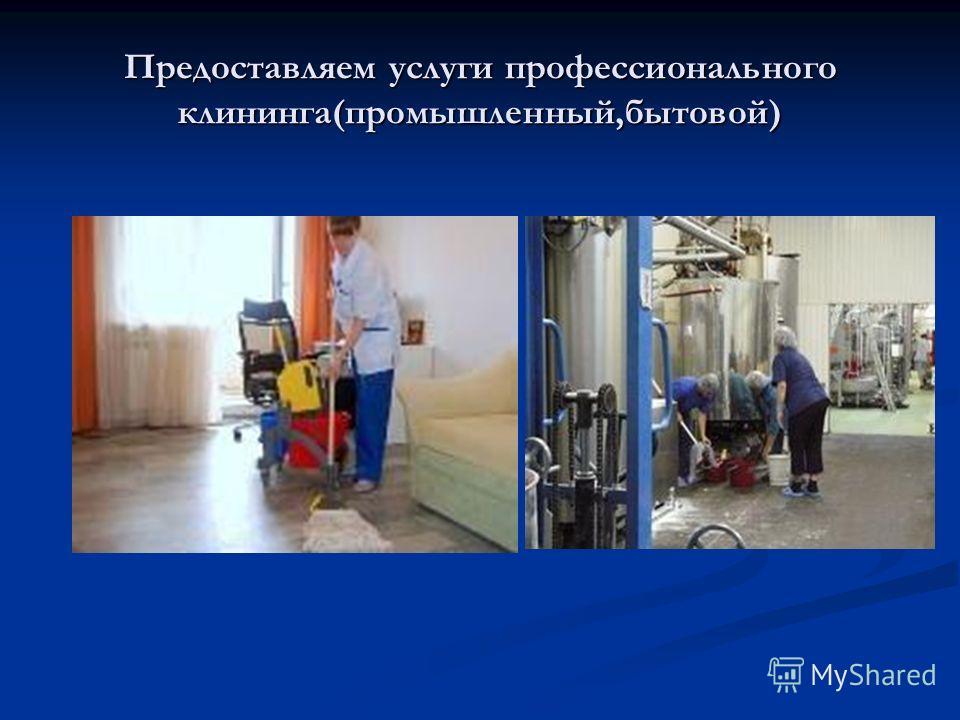 Предоставляем услуги профессионального клининга(промышленный,бытовой)