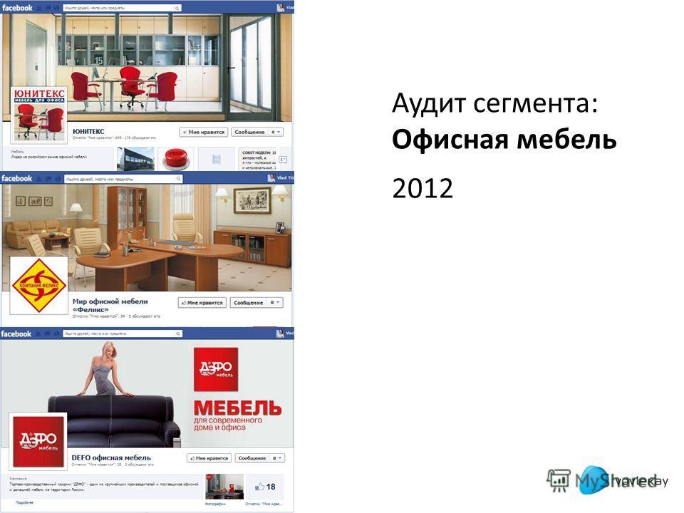 Аудит сегмента: Офисная мебель 2012