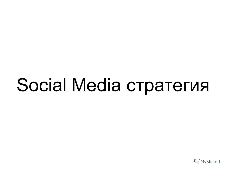 Social Media стратегия