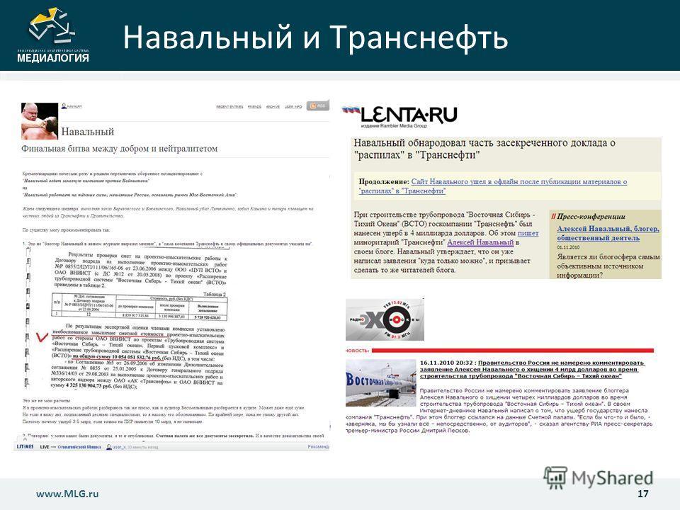 Навальный и Транснефть 17www.MLG.ru