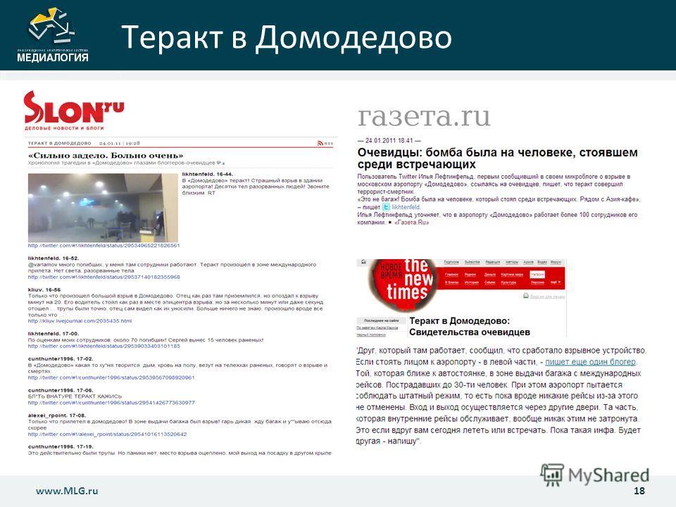 Теракт в Домодедово 18www.MLG.ru