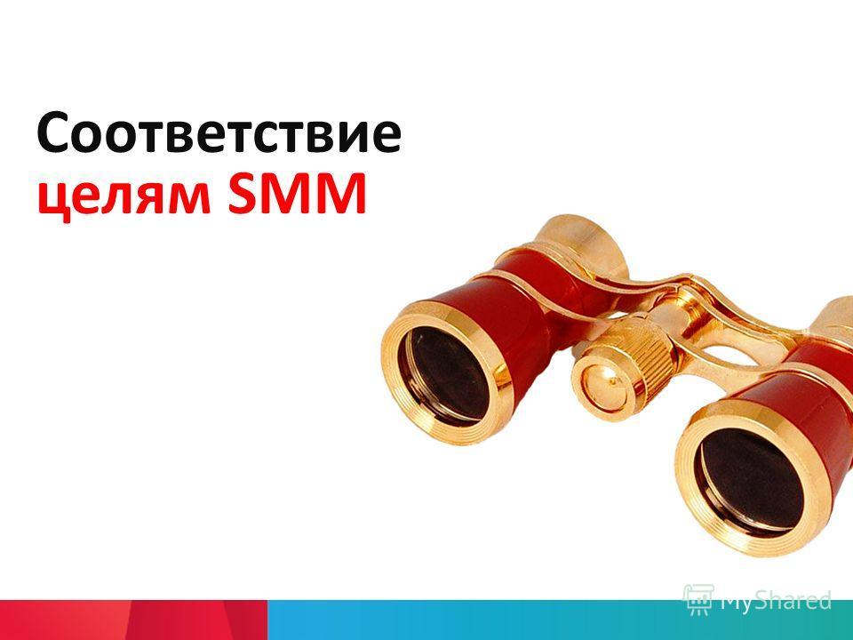 Соответствие целям SMM
