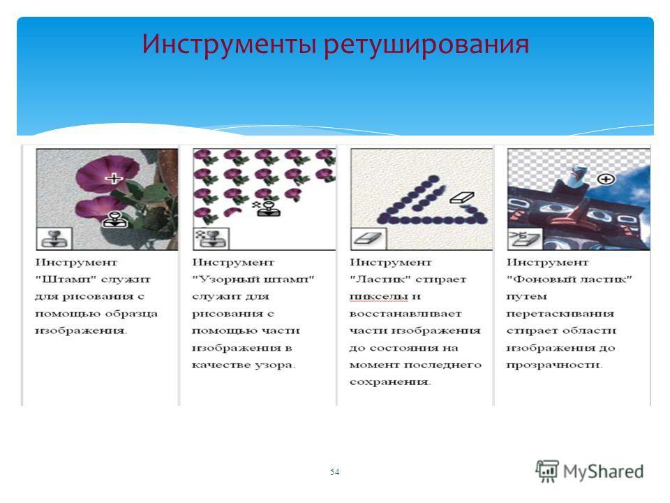 Инструменты ретуширования 54
