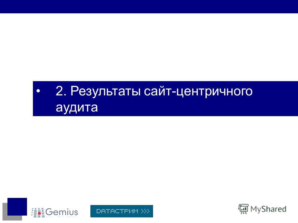 2. Результаты сайт-центричного аудита
