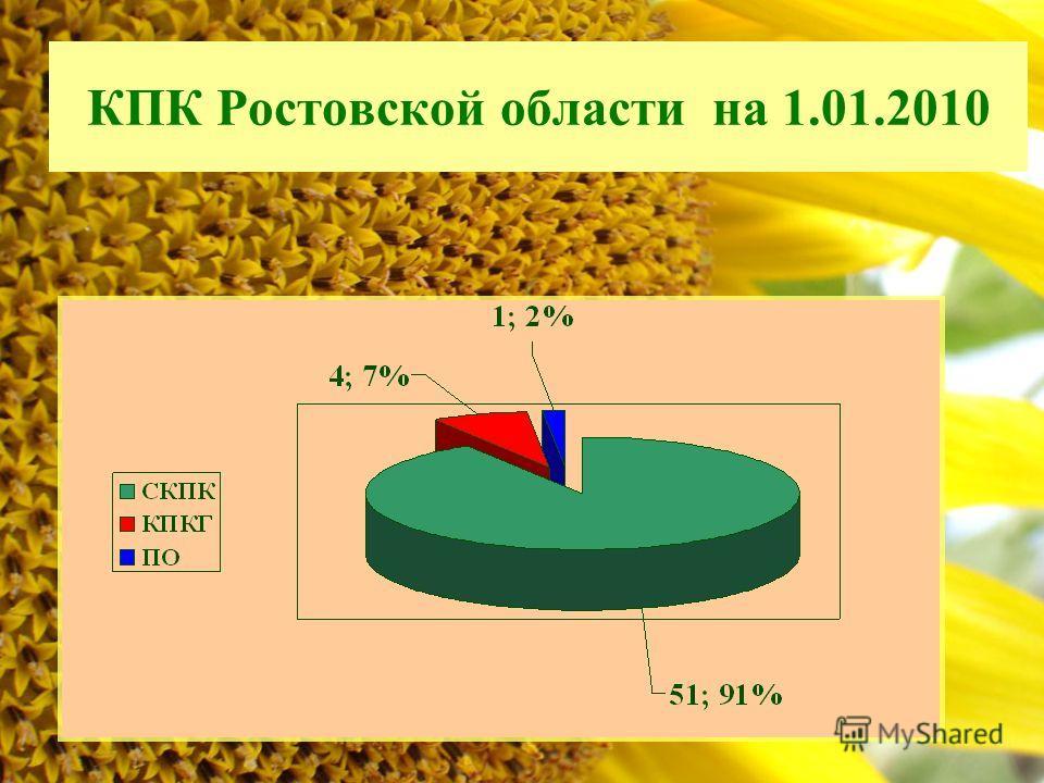 КПК Ростовской области на 1.01.2010