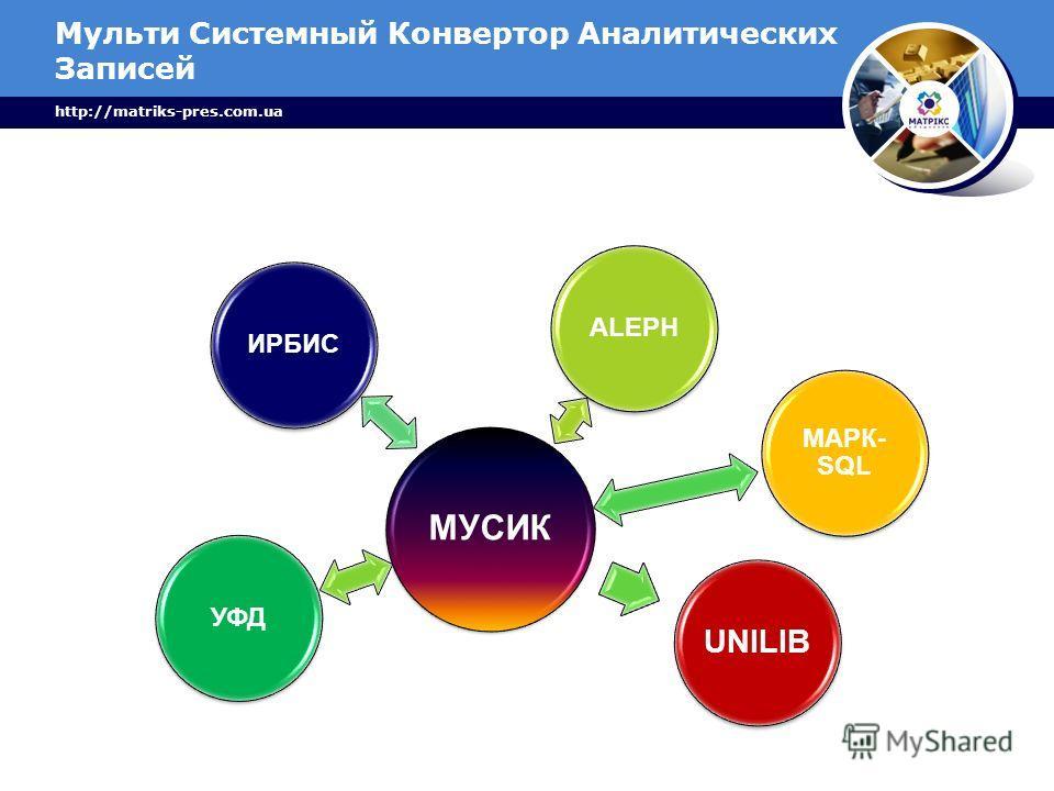Мульти Системный Конвертор Аналитических Записей http://matriks-pres.com.ua