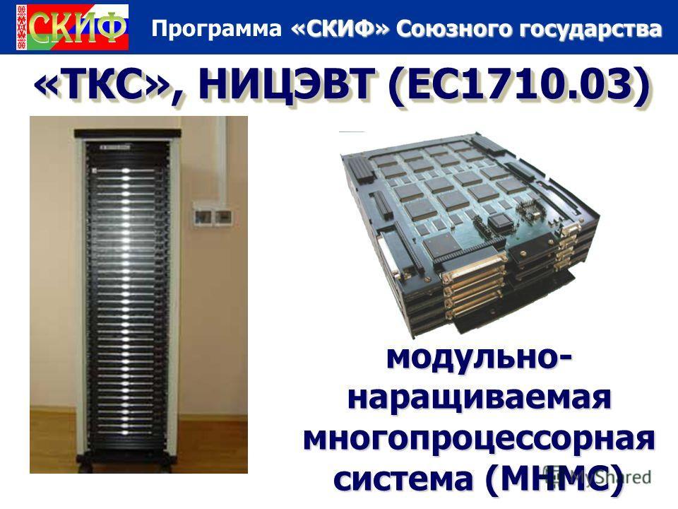 «СКИФ» Союзного государства Программа «СКИФ» Союзного государства «ТКС», НИЦЭВТ (ЕС1710.03) модульно- наращиваемая многопроцессорная система (МНМС)