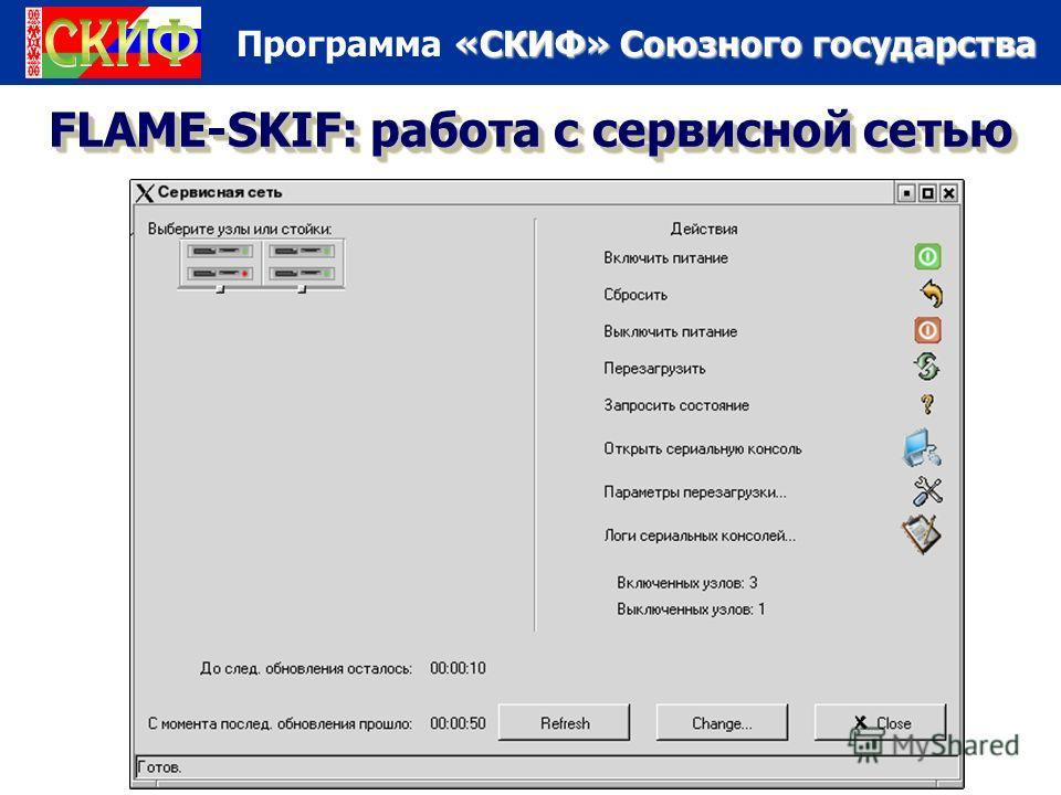 «СКИФ» Союзного государства Программа «СКИФ» Союзного государства FLAME-SKIF: работа с сервисной сетью