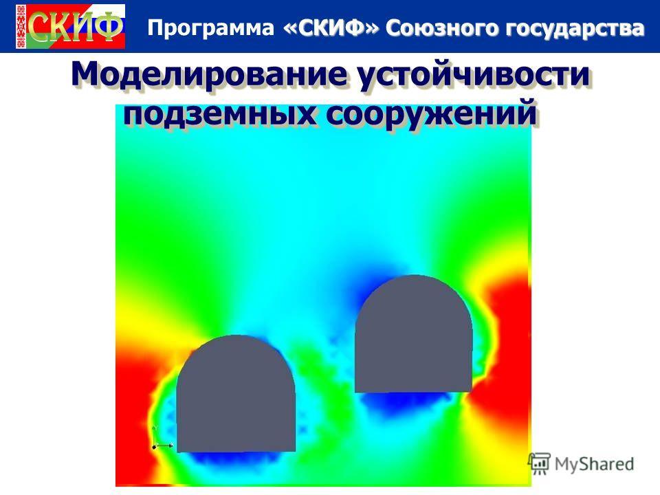 «СКИФ» Союзного государства Программа «СКИФ» Союзного государства Моделирование устойчивости подземных сооружений