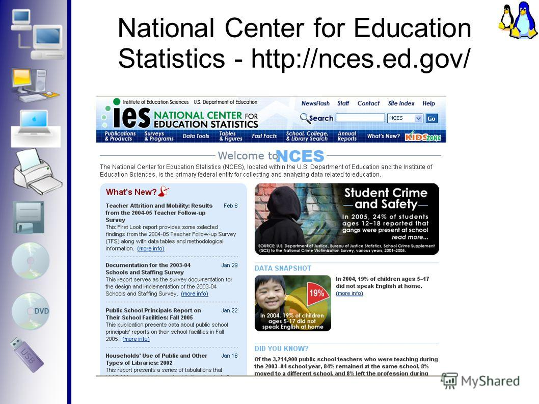 National Center for Education Statistics - http://nces.ed.gov/