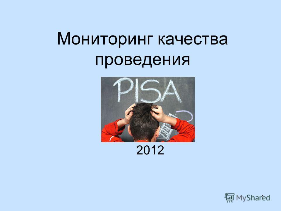 Мониторинг качества проведения 2012 1
