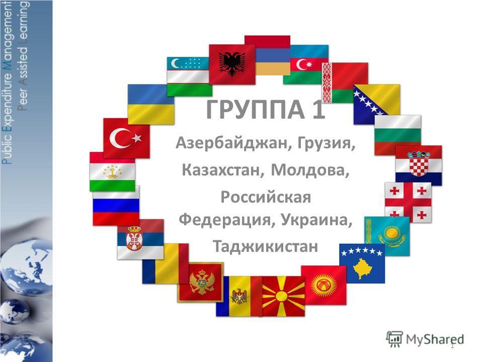 ГРУППА 1 Азербайджан, Грузия, Казахстан, Молдова, Российская Федерация, Украина, Таджикистан 1